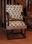 Elizabethan Arm Chair Rose & Pansy