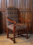 Medieval Swans, Upholstered Arm Chair