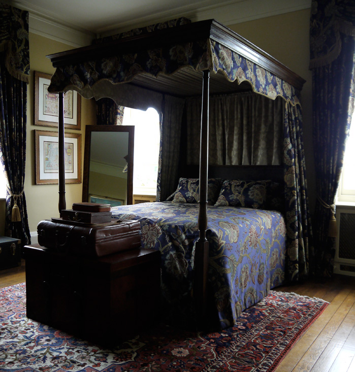 Another four poster bed with Renaissance Textiles material